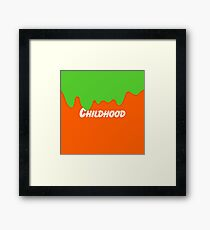 Nickelodeon Childhood Green Slime Framed Print