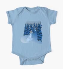 The Blue Box in the Snow One Piece - Short Sleeve