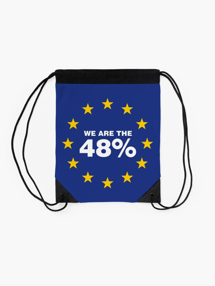 Alternate view of Brexit I Voted Remain Drawstring Bag