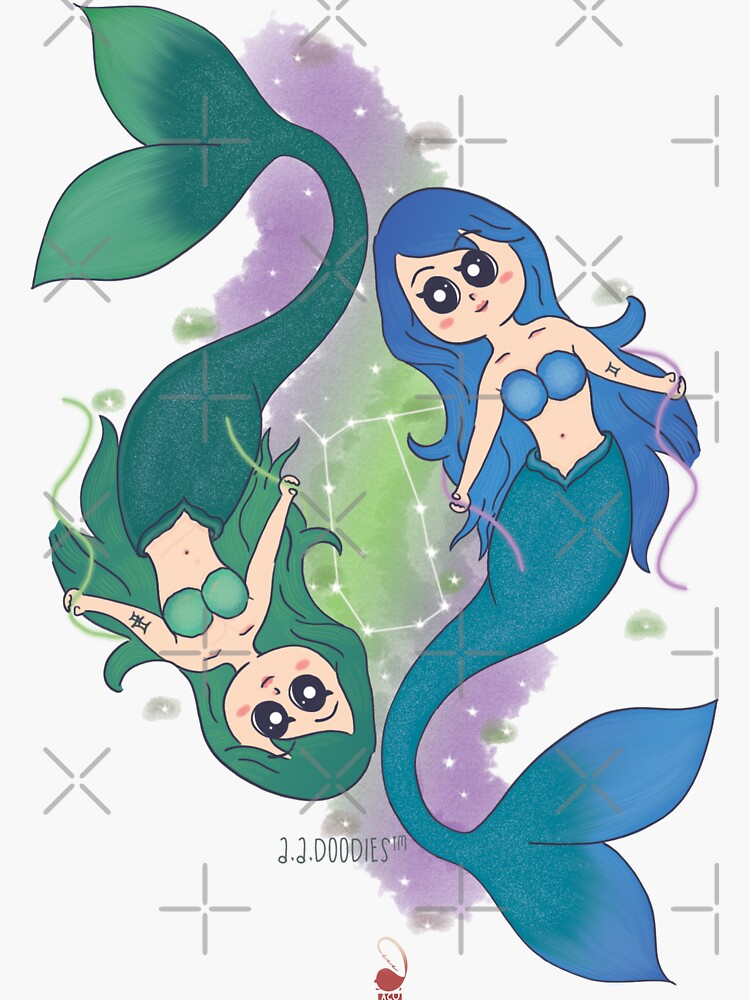 Gemini Mermaids by Aadoodles-ACU