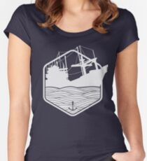 Marine emblems of badges Women's Fitted Scoop T-Shirt