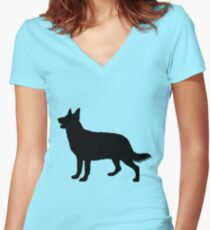 Hund, Dog, Chien, Perro, Cane, Hond Women's Fitted V-Neck T-Shirt