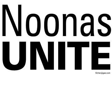 Noonas Unite Hoodies & Sweatshirts, Black Lettering by kchatjjigae