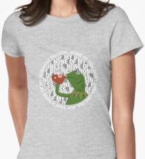 Kermit Sipping Tea (But that's none of my business) Women's Fitted T-Shirt