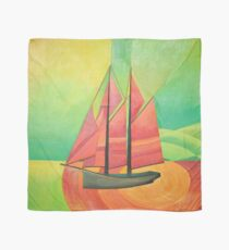 Cubist Abstract Sailing Boat Scarf