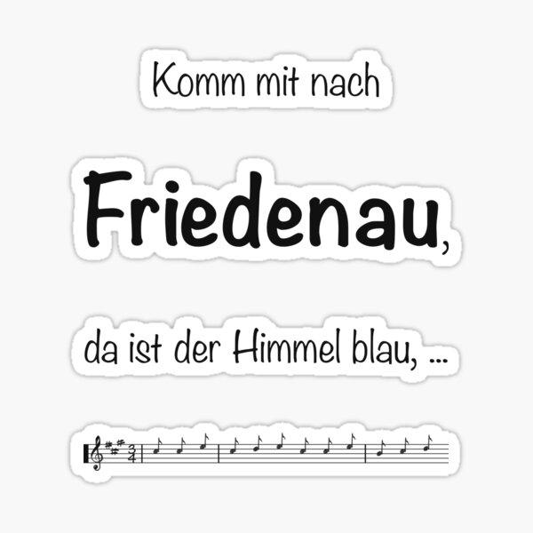 Friedenau Lied Sticker