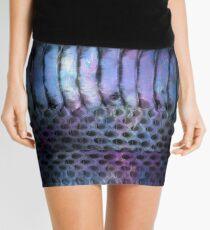 Iridescent Snake Mini Skirt