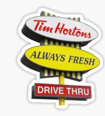 Tim Horton's Sign Sticker