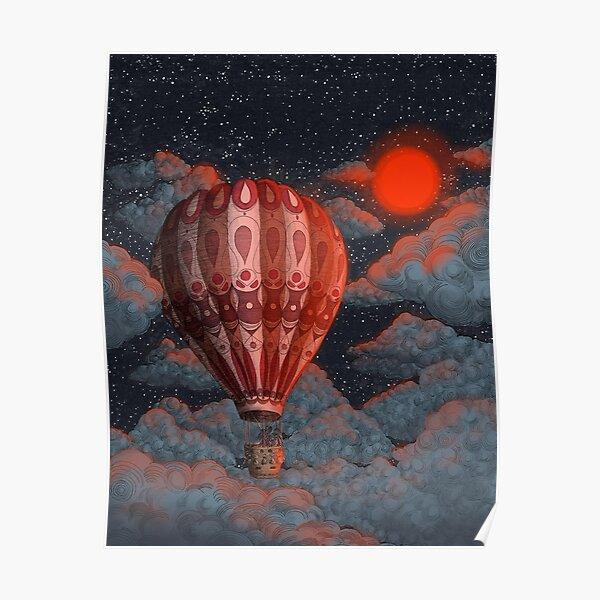 Adventure Awaits - Hot Air Balloon  Poster