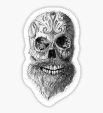 Great Beard Mighty Skull Sticker
