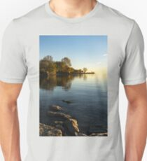 Early Morning Gold - Soft Fall Reflections Unisex T-Shirt