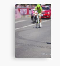 Cyclist on the road Canvas Print