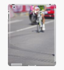 Cyclist on the road iPad Case/Skin