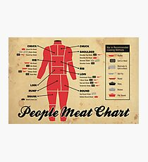People meat chart Photographic Print