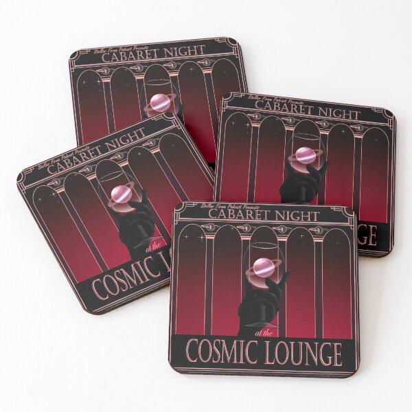Cosmic Lounge Cabaret Coasters (Set of 4)
