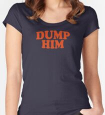 DUMP HIM - Britney Spears message tee Women's Fitted Scoop T-Shirt