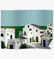VILLAGE IN GREECE Poster