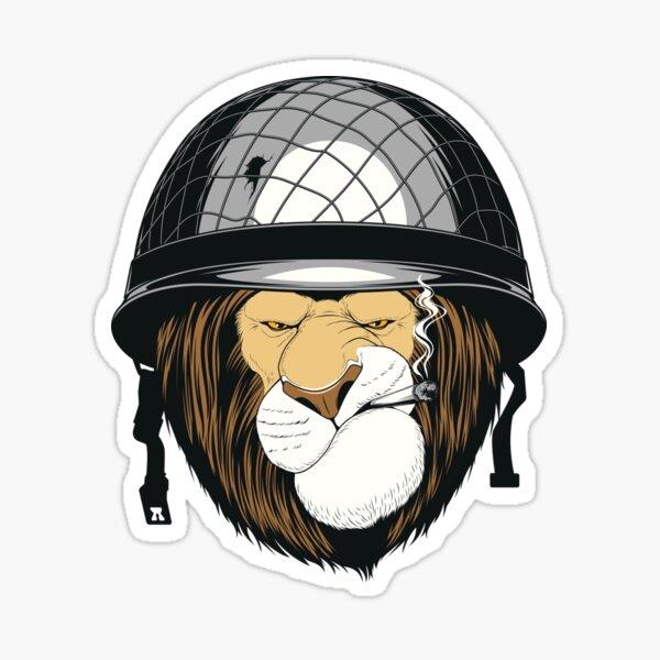 Soldier LION with helmet Sticker