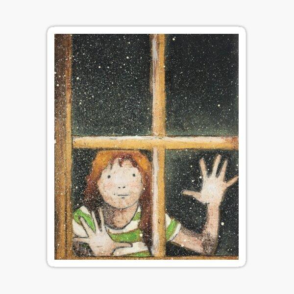 Girl at window Sticker