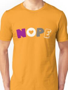 Nope (Asexual) Unisex T-Shirt