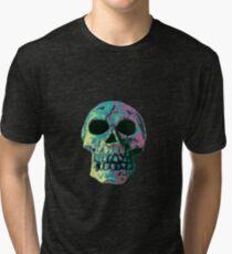 Totenschädel bunt Tri-blend T-Shirt