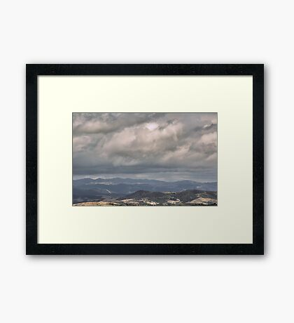 Shadows of Doubt Framed Print