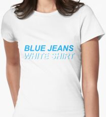 Blue Jeans/ Lana Del Rey Womens Fitted T-Shirt