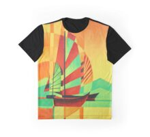 Chinese Junks Sail to Shore Graphic T-Shirt