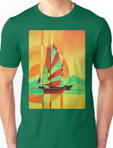 Chinese Junks Sail to Shore Unisex T-Shirt