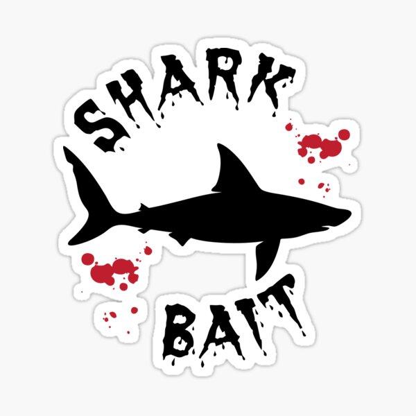 Shark Bait Great White Shark Attack Blood Splatter Sticker