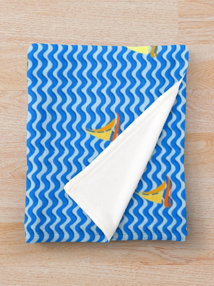 Alternate view of Fishing Boats 2 Throw Blanket