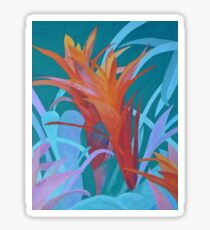 A Pattern of Bromeliads Sticker