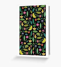 Flower Patch Dark Greeting Card
