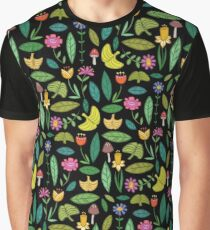 Flower Patch Dark Graphic T-Shirt