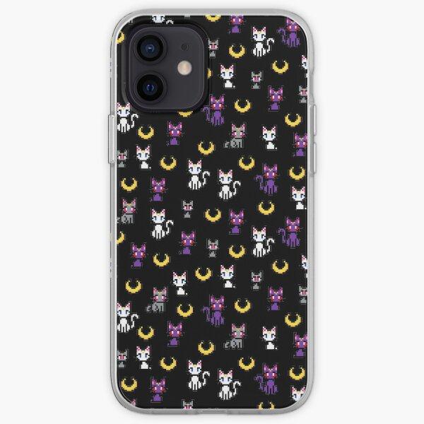 Sailor Moon Cats - Black iPhone Soft Case