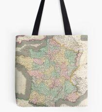 Vintage Map of France (1814) Tote Bag