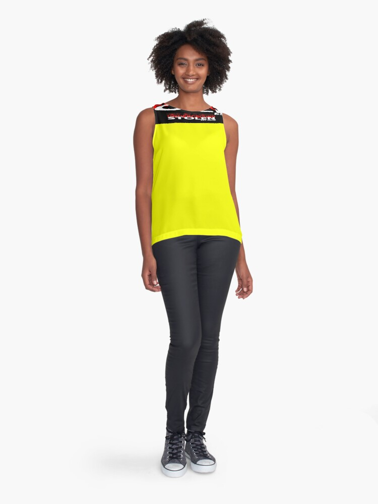 Alternate view of YELLOW COLLECTION NONE OF IT WORKED! Sleeveless Top