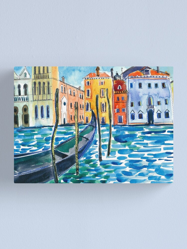 Alternate view of Venice - Original watercolour landscape by Francesca Whetnall Canvas Print
