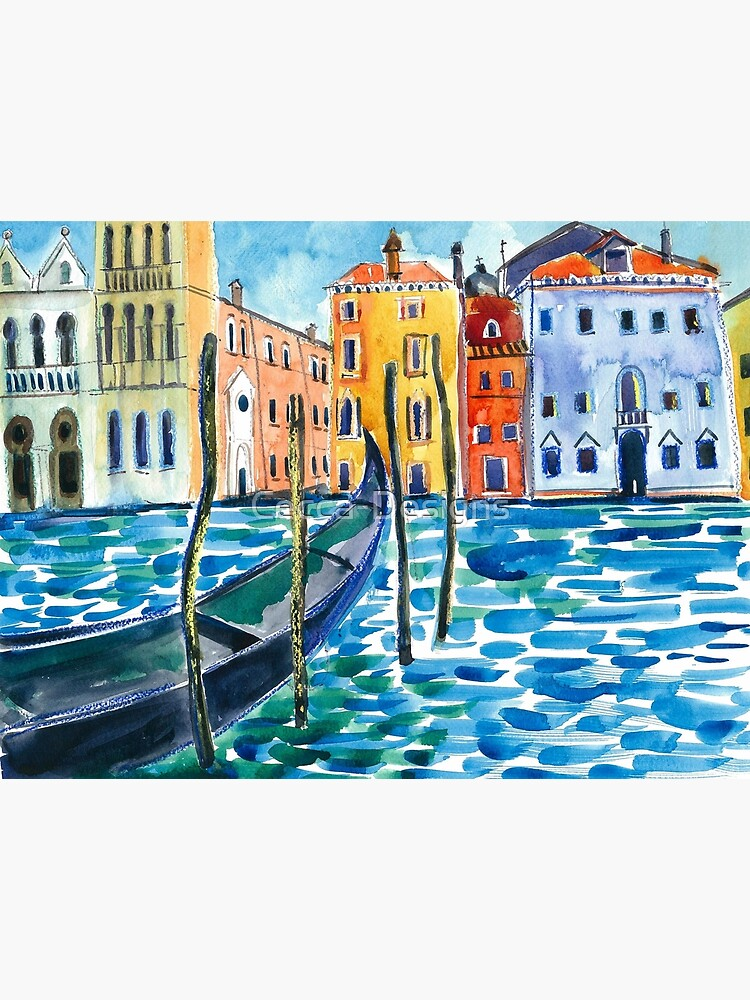 Venice - Original watercolour landscape by Francesca Whetnall by Cecca-Designs