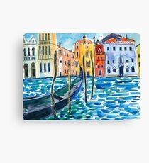 Venice - Original watercolour landscape by Francesca Whetnall Canvas Print