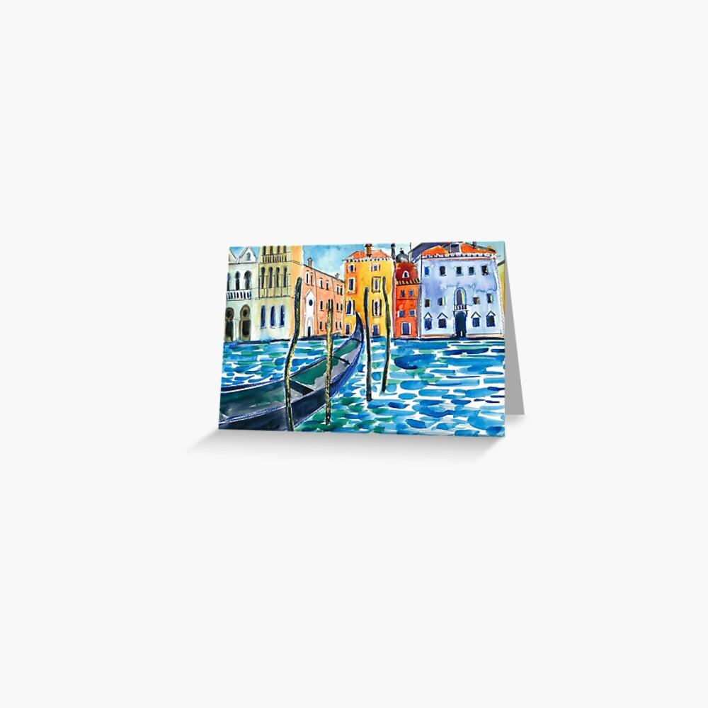 Venice - Original watercolour landscape by Francesca Whetnall Greeting Card