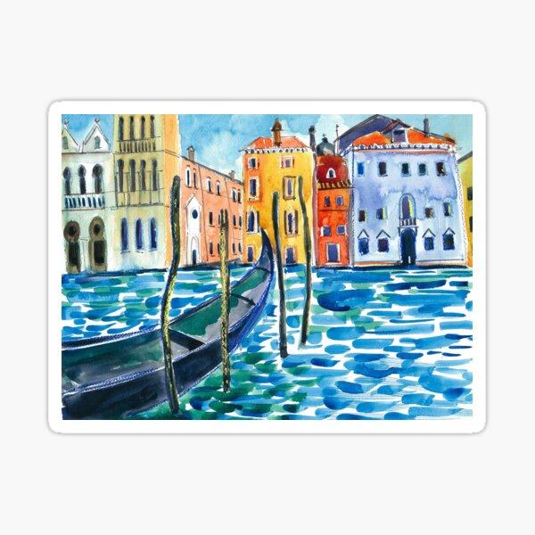 Venice - Original watercolour landscape by Francesca Whetnall Sticker