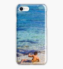 Sexy guy at the beach iPhone Case/Skin