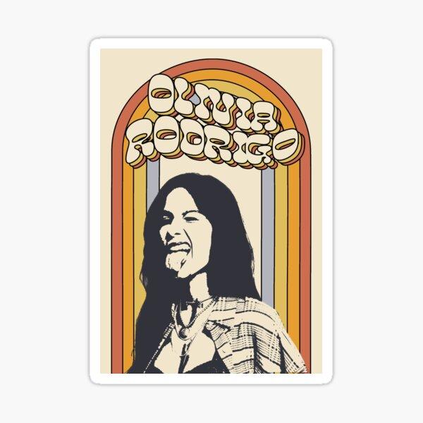 Olivia Rodrigo Retro Sticker