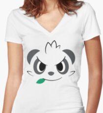 Pokemon - Pancham / Yancham Women's Fitted V-Neck T-Shirt