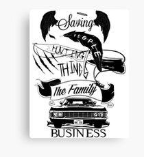Lienzo El negocio de la familia