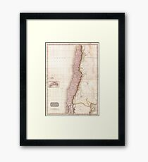 Vintage Map of Chile (1818) Framed Print
