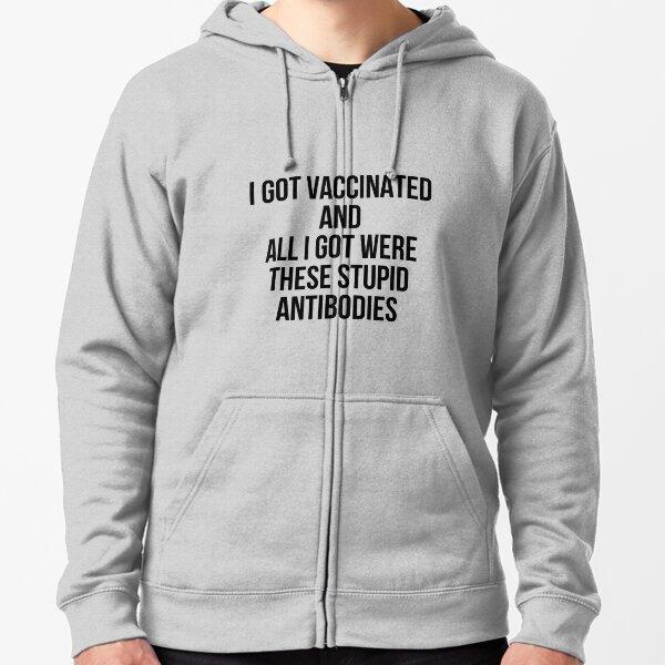besame estoy vacunado Sudadera con capucha y cremallera