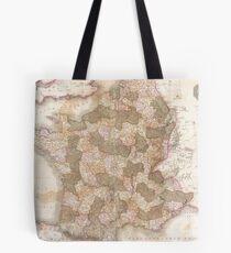 Vintage Map of France (1818) Tote Bag