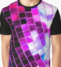 Purple Disco Ball Graphic T-Shirt